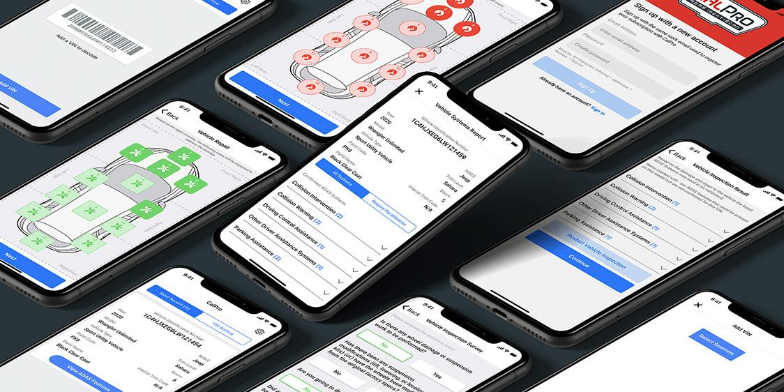 CalPro ADAS Solutions iOS Screens