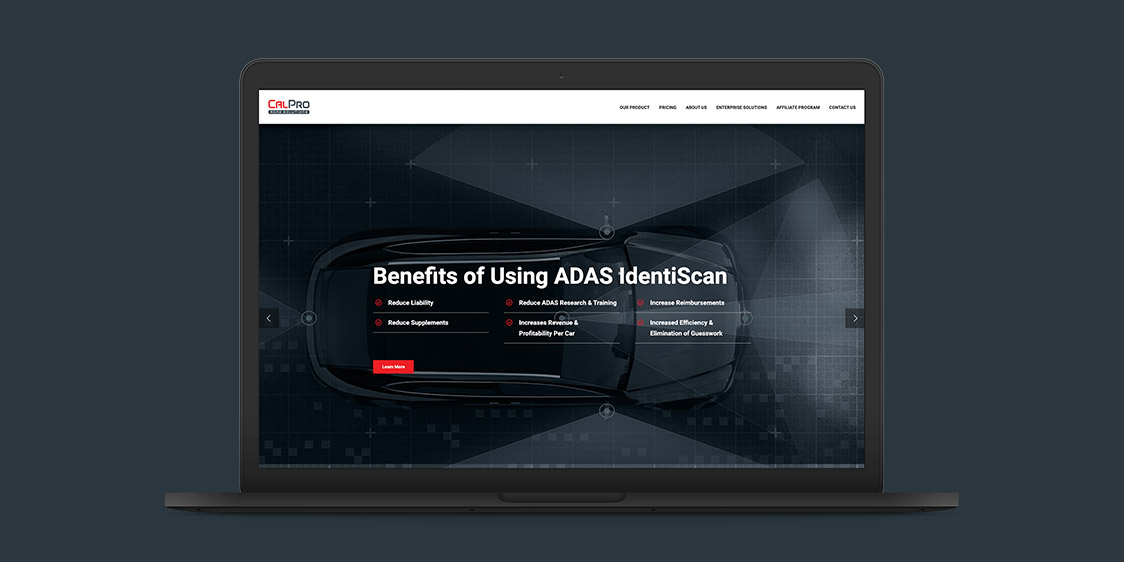 CalPro ADAS Solutions Website